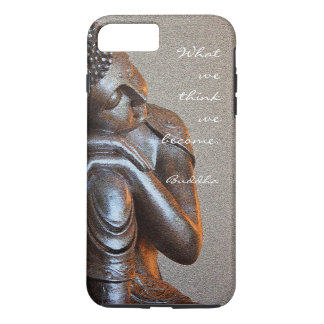 Peaceful silver Buddha with words of wisdom iPhone 8 Plus/7 Plus Case