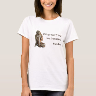 Peaceful silver Buddha with words of wisdom T-Shirt