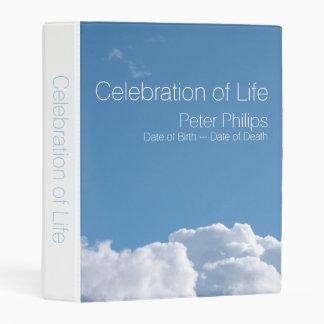 Peaceful Sky 1 Funeral Memorial Guest Book Mini B Mini Binder