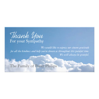 Peaceful Sky 1 - Sympathy Thank You Photo Card
