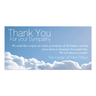 Peaceful Sky 2 - Sympathy Thank You Photo Card