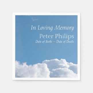 Peaceful Sky and Clouds Funeral Paper Napkins