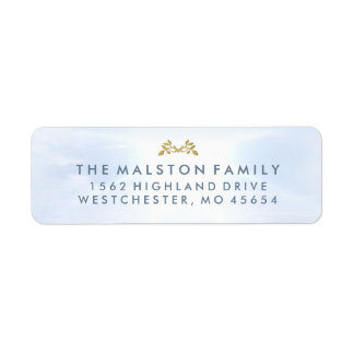 Peaceful Sky Matching Sympathy Family Address Label