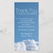 Peaceful Sky V1 Sympathy Thank You Photo Card