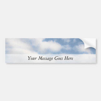 Peaceful Sky With Clouds Bumper Stickers
