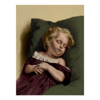 """Peaceful Sleep"" Vintage Poster"