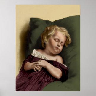 """""""Peaceful Sleep"""" Vintage Poster"""