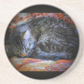 Peaceful Sleeping Cat Coaster