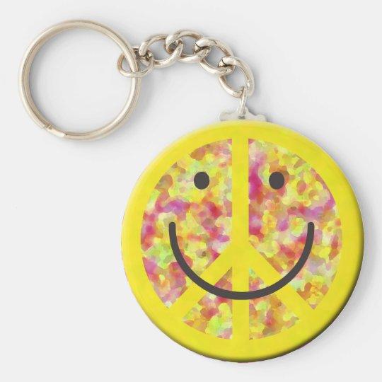 Peaceful Smiley Keychain