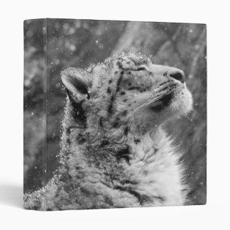 Peaceful Snow Leopard Binder