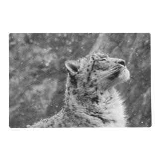 Peaceful Snow Leopard Placemat