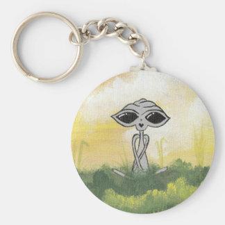 Peaceful Summer Alien Key Chain