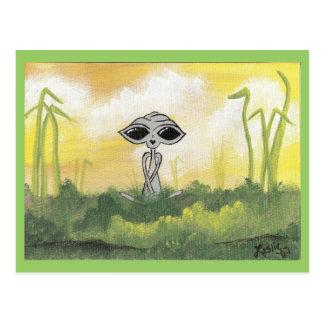 Peaceful Summer Alien Postcards