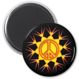 PEACEFUL SUN 2 INCH ROUND MAGNET