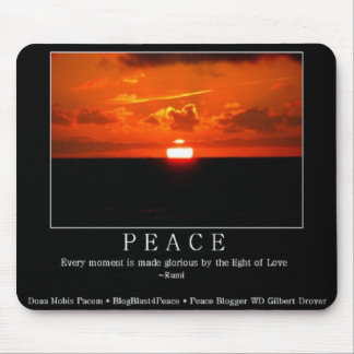 Peaceful Sunset Mousepad with Rumi Quote