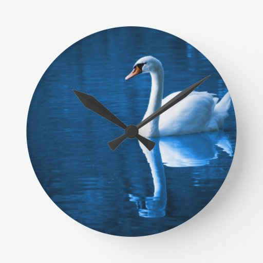 Peaceful Swan Wall Clocks