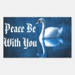 Peaceful Swan Rectangular Sticker
