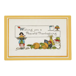 Peaceful Thankgiving Laminated Placemat