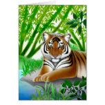 Peaceful Tiger Greeting Card