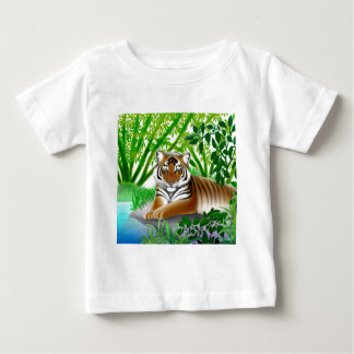 Peaceful Tiger in Bamboo Jungle Infant T-Shirt