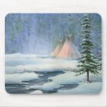 PEACEFUL TIPI by SHARON SHARPE Mouse Mats