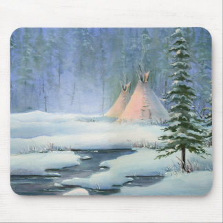 PEACEFUL TIPI by SHARON SHARPE Mouse Pad