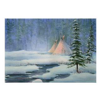 PEACEFUL TIPI  by SHARON SHARPE Poster