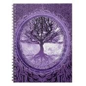 Peaceful Tree in Purple Notebook (<em>$13.70</em>)
