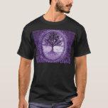 Peaceful Tree in Purple T-Shirt