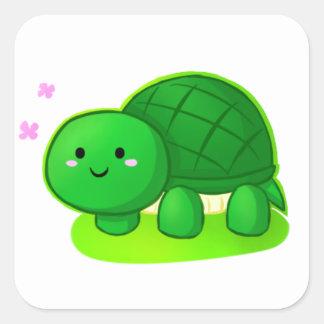 Peaceful Turtle Square Sticker