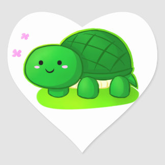 Peaceful Turtle Heart Stickers