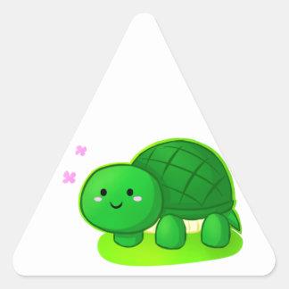Peaceful Turtle Triangle Sticker