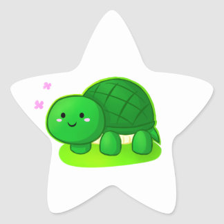 Peaceful Turtle Star Stickers