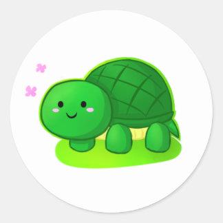 Peaceful Turtle Round Sticker