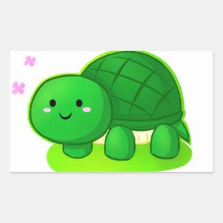 Peaceful Turtle Rectangular Sticker
