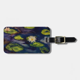 Peaceful Water Lillies Travel Bag Tags