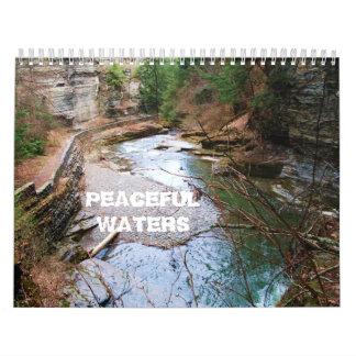 PEACEFUL WATERS calender Calendar