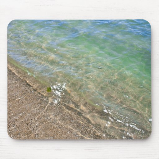 Peaceful Waves Abstract Water Photography Mouse Pads