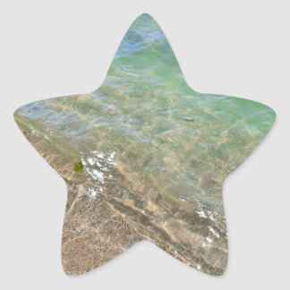 Peaceful Waves Abstract Water Photography Star Sticker