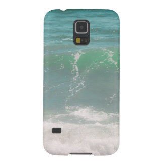 Peaceful Waves Blue Green Sea Beach Photography Galaxy S5 Case