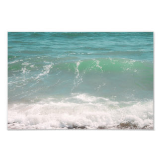 Peaceful Waves Blue Green Sea Beach Photography Photo Print