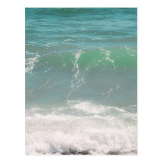 Peaceful Waves Blue Green Sea Beach Photography Postcard