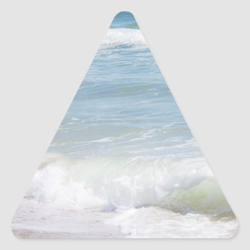 Peaceful Waves Blue Sea Beach Photography Stickers