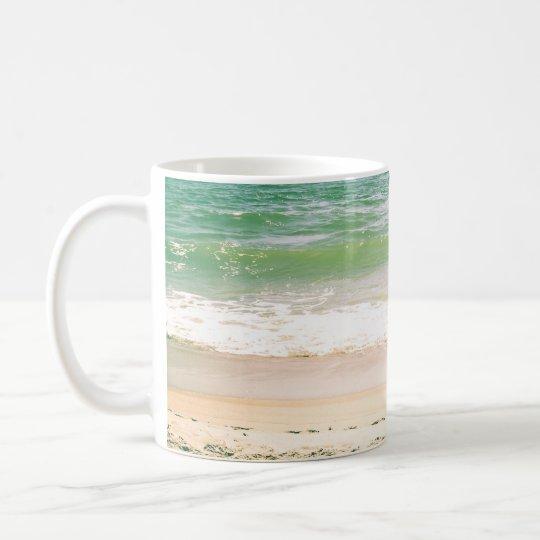 Peaceful Waves Pastel Beach Photography Coffee Mug