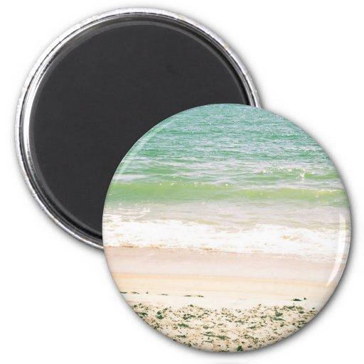 Peaceful Waves Pastel Beach Photography Fridge Magnet
