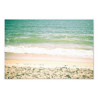 Peaceful Waves Pastel Beach Photography Photo Print