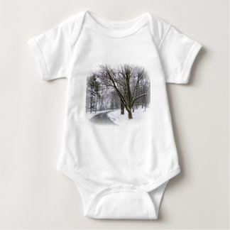 Peaceful Winter Afternoon Drive Baby Bodysuit