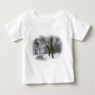 Peaceful Winter Afternoon Drive Baby T-Shirt