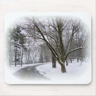 Peaceful Winter Afternoon Drive Mousepads