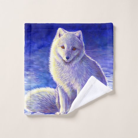 Peaceful Winter Arctic Fox Bath Towel Set